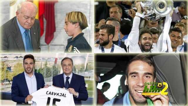 كارفخال … طائرة ريال مدريد